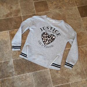 Justice Active girl's size 8 sweatshirt